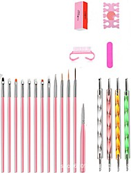 cheap -Nail Designs 2020 26pcs Nail Basic Nail Art Tools for Beginner Nail Brushes  Dotting Tools Nail Art Acrylic Pen  Nail Kits & Sets for Finger Nail