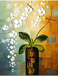 cheap -Beauty of Life 100% Hand-Painted Modern Flower Artwork Abstract Floral Oil Paintings on Canvas Wall Art for Home Decorations Wall Decor Rolled Without Frame