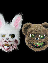 cheap -Halloween Party Toys Masks Costume 2 pcs Rabbit Bear Thrilling Masquerade Plastic Plush Kid's Adults Trick or Treat Halloween Party Favors Supplies