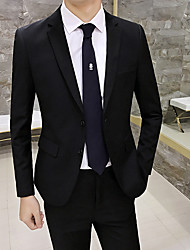 cheap -Tuxedos Standard Fit Notch Single Breasted Two-buttons Polyester Solid Color