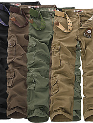 cheap -Men's Hiking Pants Hiking Cargo Pants Camo Summer Outdoor Multi-Pocket Cotton Pants / Trousers Bottoms Black Army Green Camouflage Khaki Coffee Camping / Hiking Hunting Fishing 28 29 30 31 32