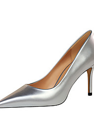 cheap -Women's Heels Stiletto Heel Pointed Toe Sexy Party & Evening Solid Colored Patent Leather Almond / Nude / Black