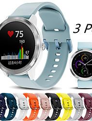 cheap -3 Pcs Sport Silicone Watch Band for Garmin Vivoactive 4 / Venu / Vivomove HR / Forerunner 245 Music / 645 Music / Vivoactive 3 / Approach S40 / Fenix Chronos Bracelet Wrist Strap Wristband