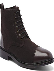 "cheap -men's monroe merino wool leather lace-up 6"" dress boot & #40;brown merino wool, numeric_7& #41;"