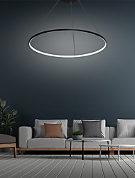 cheap -60cm LED Pendant Light Ring Circle Design Nordic Simple Modern Contemporary Black Metal Acrylic Painted Finishes 110-120V 220-240V