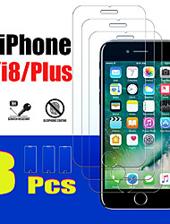 cheap -3PCS 7 plus protective glass for apple iPhone 7 8 plus screen protector tempered glas armored I8 I8plus 8plus Iphone8plus Iphone8