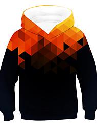 cheap -Kids Boys' Hoodie & Sweatshirt Long Sleeve Geometric Orange Children Tops Active Basic Children's Day