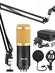 cheap -BM800 Condenser Microphone Kits Professional Adjustable Studio Microphone Bundle Karaoke Microphone Recording Broadcast