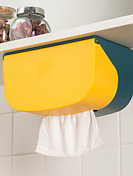 cheap -Wall-mounted Tissue Box Perforated Kitchen Drawer Tray Bathroom Toilet Paper Rack Roll Storage