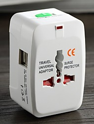 cheap -Electrical Plug Power Socket Adapter International Travel Universal USB Charger Converter EU UK US AU