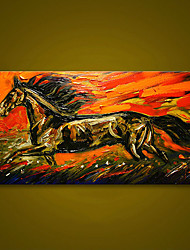 cheap -Unframed Abstract Running Horse Animals Hand Painted Oil Painting Large Modern Wall Art Canvas Painting For Living Room Decor Rolled Without Frame