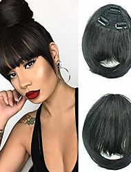 cheap -clip in bangs natural black bangs clip in fringe hair extensions  with temples natural color for women