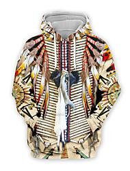 cheap -Men's Pullover Hoodie Sweatshirt Graphic Casual Hoodies Sweatshirts  Khaki