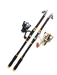 cheap -Fishing Rod and Reel Combo Telescopic Rod 210/240/270/300/360 cm Carbon Portable Telescopic Sea Fishing