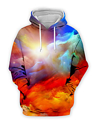 cheap -Men's Pullover Hoodie Sweatshirt Graphic Casual Basic Hoodies Sweatshirts  Red