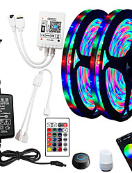 cheap -5m Flexible LED Strip Lights RGB Tiktok Lights Remote Controls 270 LEDs SMD2835 8mm 1 24Keys Remote Controller 1 x 2A power adapter 1 set RGB Change Christmas New Year's Indoor Decorative