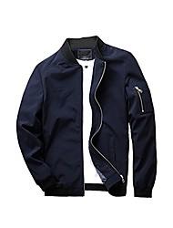 cheap -men's slim fit lightweight sportswear jacket casual bomber jacket us l black fleece