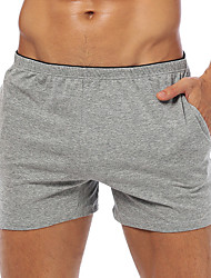 cheap -Men's Basic Breathable Daily Shorts Pants Solid Colored Short White Black Blue Gray