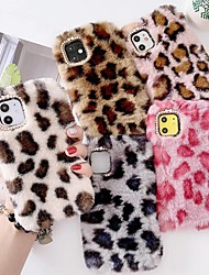 cheap -Case For iPhone 12  iPhone 11 Pro Max iPhone XS Max Plush Leopard Print Back Cover Case For iPhone XR XS X iPhone 7 8 Plus 6 6s Plus SE 2020 5S  5G