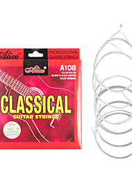 cheap -Naomi 6 Strings Alice Classical Guitar Strings Set Clear Nylon Silver-Plated Copper Alloy Wound Normal Tension A108-N
