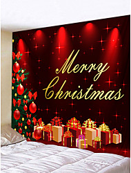 cheap -Christmas Weihnachten Santa Claus Wall Tapestry Art Decor Blanket Curtain Picnic Tablecloth Hanging Home Bedroom Living Room Dorm Decoration Merry Christmas Tree Gift Polyester