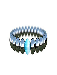 cheap -mens beaded bracelet | semi precious gemstone crystal beaded stretch bracelet for men | men's accessory gift for all occasion (hematite medium, 7 inch)