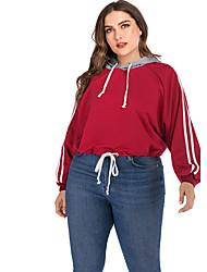 cheap -Women's Pullover Hoodie Sweatshirt Solid Colored Streetwear Hoodies Sweatshirts  Wine