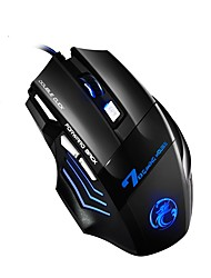 cheap -LITBest X7 Wired USB Optical Gaming Mouse Ergonomic Mouse Led Breathing Light 800/1200/1600/2400 dpi 4 Adjustable DPI Levels 7 pcs Keys
