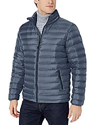 cheap -amazon brand - men's down puffer jacket, denim x-large tall