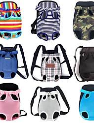 povoljno -Psi Mačke Prednji ruksak Torba preko prsa Ruksak za psa Prijenosno Može se sklopiti Putovanje Leopard Plaid / Check Dungi Terilen Camouflage boji Duga Dungi