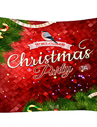 cheap -Christmas Weihnachten Santa Claus Wall Tapestry Art Decor Blanket Curtain Picnic Tablecloth Hanging Home Bedroom Living Room Dorm Decoration Christmas Tree Bird Animal Polyester