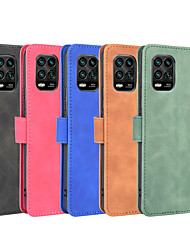 cheap -Case For Xiaomi MI 10 10Pro 10lite(5G) Note 10lite Redmi Note 9 9S 9Pro 9ProMax K30Pro 10X(4G) 10X(5G) 10XPro(5G) Poco F2 Wallet  Shockproof Magnetic Full Body Cases Solid Colored PU Leather TPU