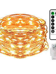 cheap -Outdoor Wedding Waterproof 20M String Lights with Remote Control 200LED Copper Wire LED Outdoor String Lights with 8 Functions Fairy Light Christmas Wedding Party Room Decoration (without Battery)