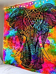cheap -Colorful elephants Indian tapestries with large mandalas bohemian beach towel wall hangings thin polyester blankets yoga mats shawls blankets