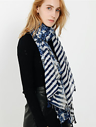 cheap -Women's Tassel Rectangle Scarf - Striped Washable