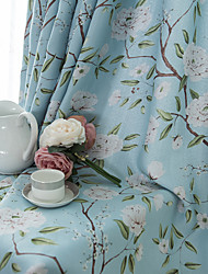 cheap -Window Curtain Window Treatments Floral/Flower 2 Panels Room Darkening For Living Room Bedroom