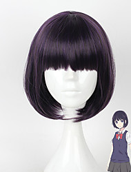 cheap -Rozen Maiden Princess Cosplay Wigs Women's Short Bob 12 inch Heat Resistant Fiber Straight Purple Teen Adults' Anime Wig