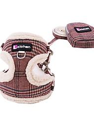 cheap -Dog Cat Harness Leash Portable Trainer Vest Escape Proof Geometry Nylon Golden Retriever Japanese Spitz Beagle Bulldog Shiba Inu Shih Tzu Blue Pink Gray Coffee Light Pink 1 set