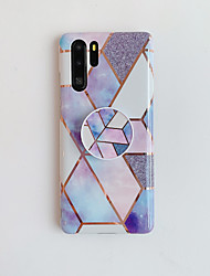 cheap -Phone Case For Huawei P20 P20 Pro P20 Lite Nova 3e Mate 20 Mate 20 Lite Mate 20 Pro P30 P30 Pro P30 Lite Nova 4e with Stand Plating Pattern Back Cover Marble