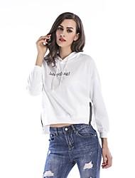 cheap -Women's Pullover Hoodie Sweatshirt Letter Basic Hoodies Sweatshirts  White