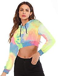 cheap -women's summer long sleeve crop top hoodie workout casual cute pullover cropped sweatshirt pick s