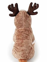رخيصةأون -سانتا إلك الكلب زي عيد الميلاد الحيوانات الأليفة هوديي معطف الملابس الكلب الملابس الشتوية الخريف صالح للجرو الكلب تيدي تشيهواهوا يوركشاير القلطي المالطية جرو الصلصال