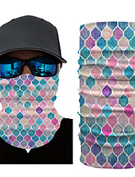 cheap -Ice Silk Neck Gaiter Neck Tube Balaclava Bandana Mask Men's Women's Unisex Headwear Geometric Checkered / Gingham Fashion UV Sun Protection Dust Proof Cooling for Fitness Running Cycling Autumn