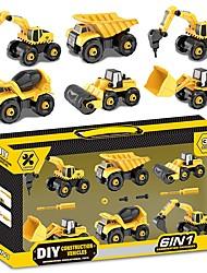 cheap -Iron Motorcycle Construction Truck Set Dozer Excavator Toy Car Pull Back Car / Inertia Car Extra Large Excavating Machinery Unisex Boys' Car Toys