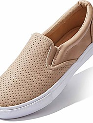 cheap -slipon flats for women low top slip on shoe loafer classic ring ladies footed dual casual slip-on loafers shoes camel,pu,6.5