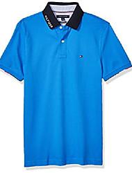 cheap -but& #39;s flag pride polo shirt in custom fit, nebulas blue, medium