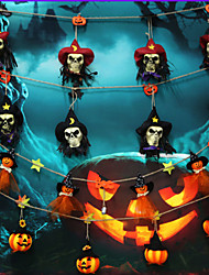 cheap -Halloween Party Toys Halloween Banner 4 pcs Skull Skeleton Pumpkin Plastic Kid's Adults Trick or Treat Halloween Party Favors Supplies