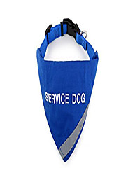 """cheap -service dog bandana with reflective strip for pet safety at night. has built in matching collar to keep bandana secure 