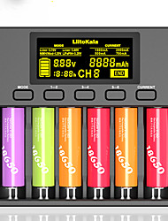 cheap -LiitoKala Lii-S6 Battery Charger 18650 Charger 6-Slot Auto-Polarity Detect For 18650 26650 21700 32650 AA AAA Batteries With Charge Car