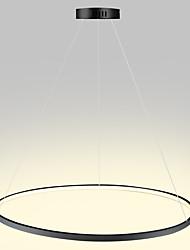 cheap -1-Light 80 cm LED Pendant Light Metal Acrylic Circle Painted Finishes Modern Contemporary 110-120V / 220-240V
